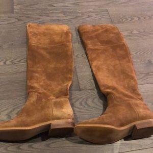Michael Kors camel knee-high boots